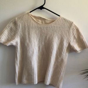 Vintage Sweaters - vintage boxy cropped wool sweater